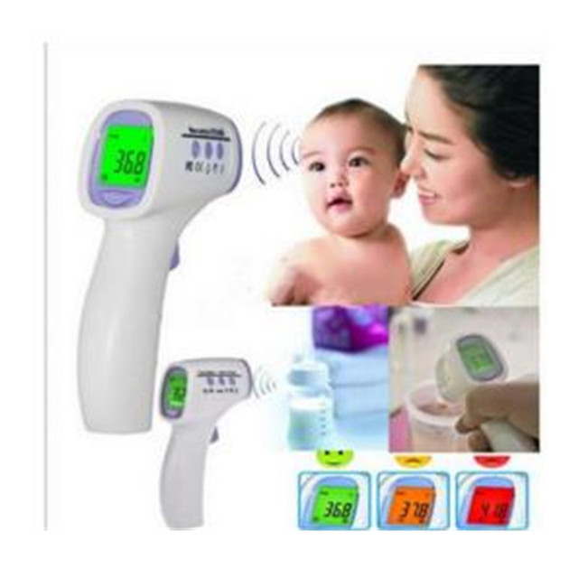 New Baby/Adult  LCD Digital Multi-Function Non-contact Infrared Forehead Body Thermometer Gun(No battery) English Manual  B0021