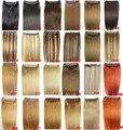 """16 """"-28"""" 100g 26 colores disponibles Cabeza Completa 1 unidades conjunto cabeza llena Brasileña Virginal extensiones de cabello humano remy clips en/en"""