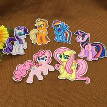 6 pcs/lot My Little Poni Horse Patches For Clothes Iron On S