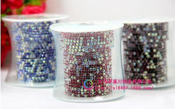 rhinestone cup chain ss6-ss12 12 color  Mix colour claw chainr strass sew on rhinestone chain use for garment free shippin