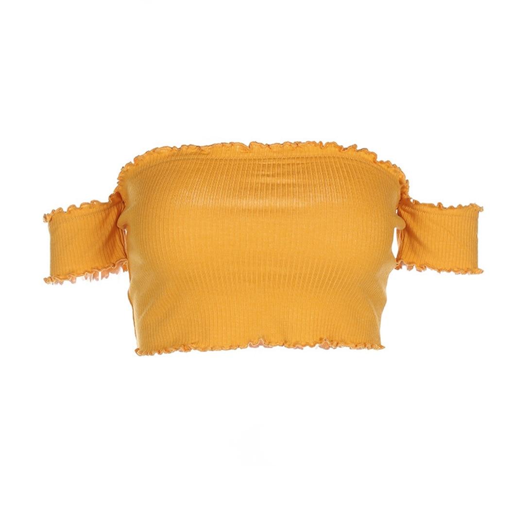 HTB1dXGThL5TBuNjSspmq6yDRVXaT - FREE SHIPPING Yellow Off Shoulder Short Sleeve T-Shirt JKP407