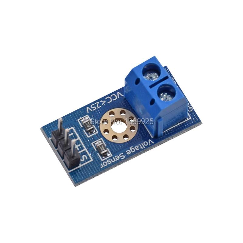 10pcs/lot Voltage Sensor 10pcs for Arduino DC Raspberry Pi Amplifier Digital Current DC0-25V with Code FZ0430