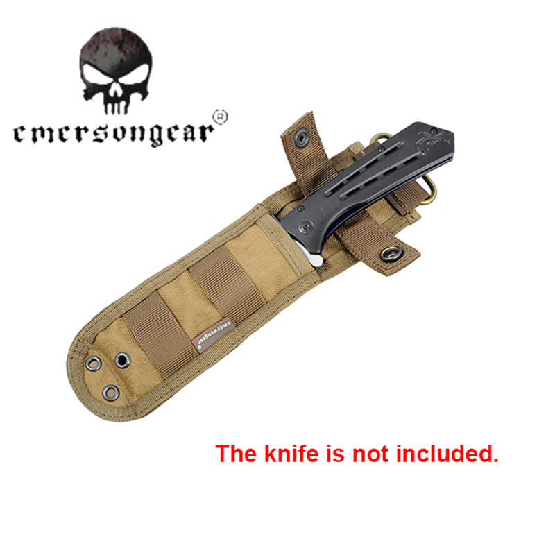 Emerson Nylon font b Knife b font Pouch With Anti cut Plate Inside Durable Protector Molle