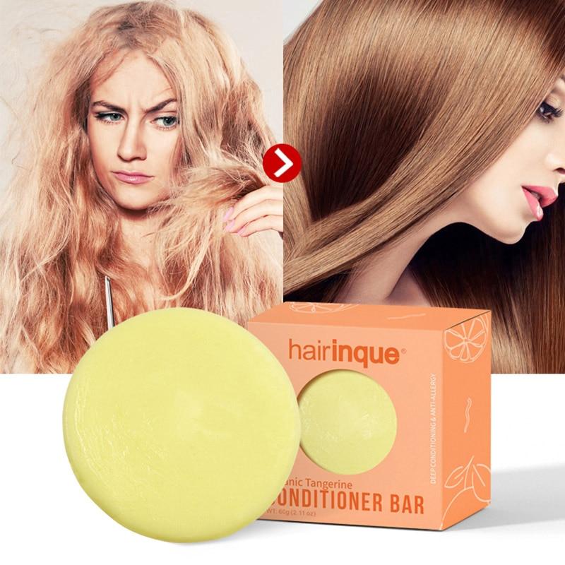 Organic Hair Tangerine Conditioner Bar Handmade Vitamin C Nourishing Hair Conditioner Soap Hair Care  Moisturizing Dropshipping