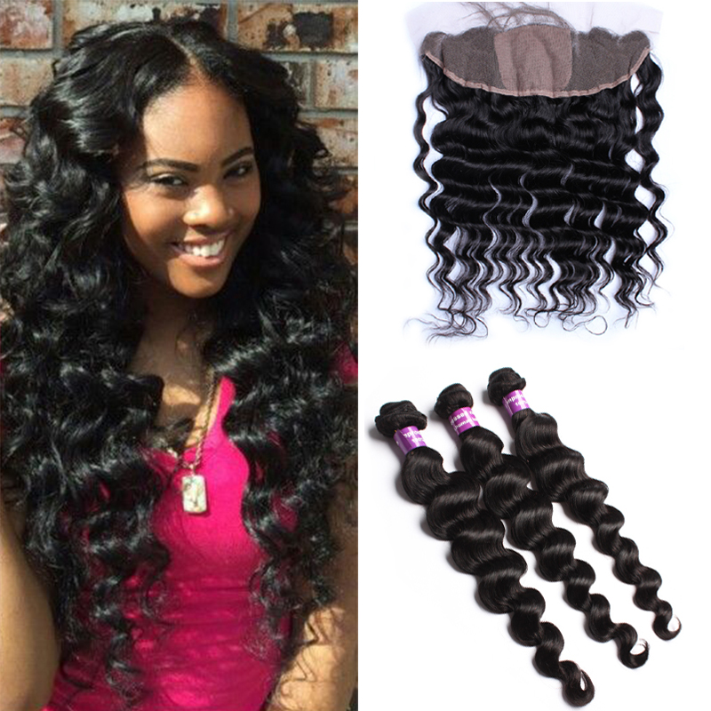 Aliexpress Com Buy Peruvian Loose Wave With Closure 13x4