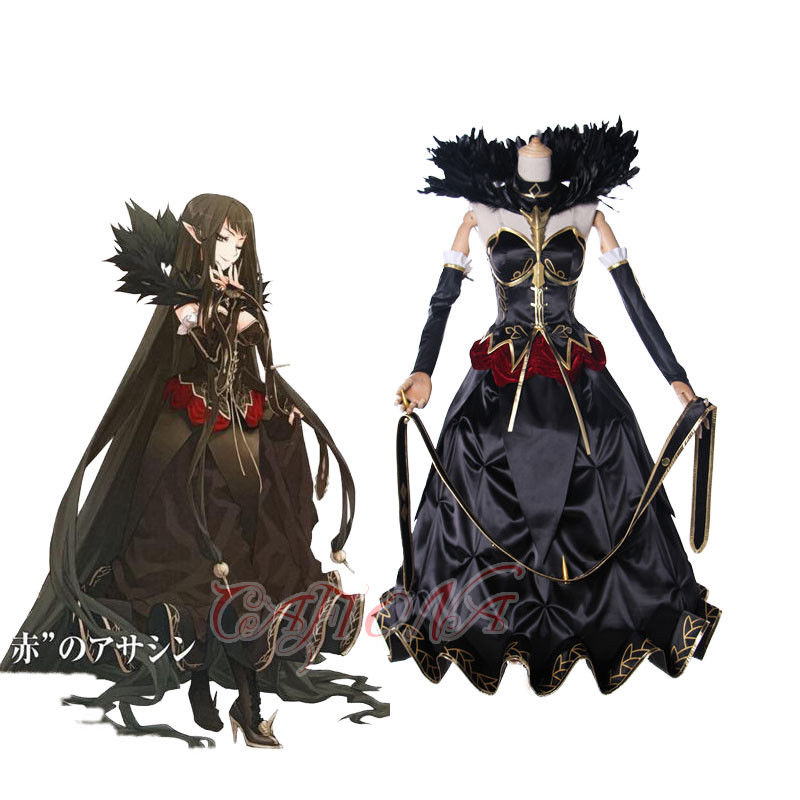 Cafiona Fate/Apocrypha Semiramis Sammu-ramat Cosplay Costume Women Fancy Black Dress Halloween
