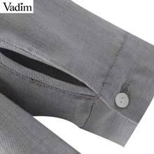 Vadim elegant ruffled pearls beading shirts long sleeve pleated chic blouse sweet office lady casual brand tops blusas LT2379