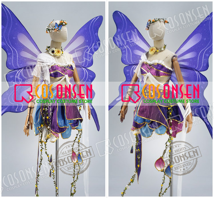 US $185 0 |COSPLAYONSEN Love Live! Land of Fairies Ver After awakening  Toujou Nozomi Cosplay Costume Without wings-in Anime Costumes from Novelty  &