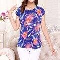 2017 Novas mulheres impressão ocasional plus size t-shirt o-pescoço manga curta t shirt das mulheres blusa