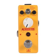 AROMA AAS-5 Acoustic Guitar Simulator Effect Pedal 3 Modes Aluminum Alloy Body True Bypass цены