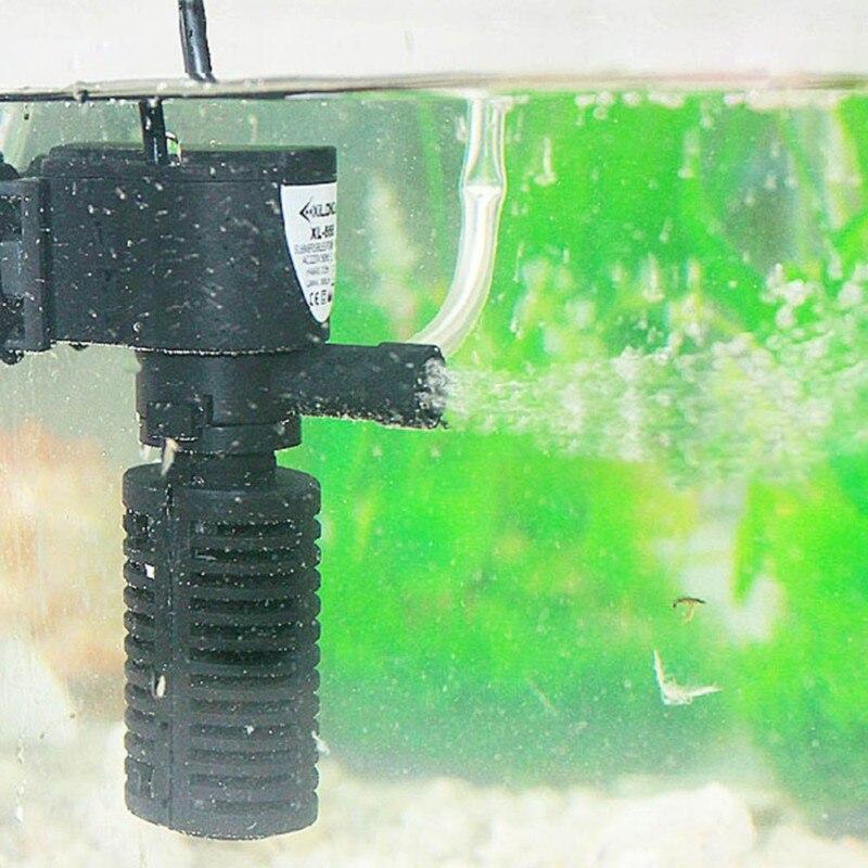 3 dans 1 Aquarium Filtre Powerhead Interne Filtre Submersible Pompe À Eau Cascade Rampe de pulvérisation Circulation 3 w 5 w