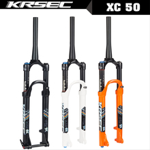лучшая цена KRSEC Mtb air suspension 26 bicycle fork 27.5 29 inch magnesium alloy Mtb fork bike accessory QR 100*9MM Thru 100*15MM