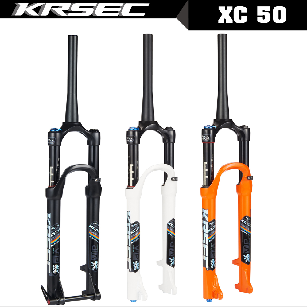 KRSEC <font><b>Mtb</b></font> air <font><b>suspension</b></font> 26 bicycle fork <font><b>27.5</b></font> 29 inch magnesium alloy <font><b>Mtb</b></font> fork bike accessory QR 100*9MM Thru 100*15MM image