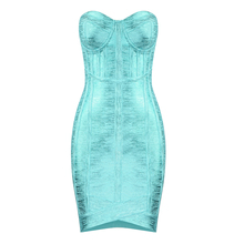 Free Shipping Wholesale New Arrival Sexy Strapless Backless Bandage Dress 2019 Designer  Party Vestido
