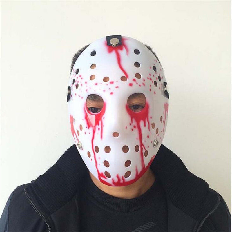 Halloween Jason Voorhees Mask Friday The 13th Horror Hockey Costume Prop Colors