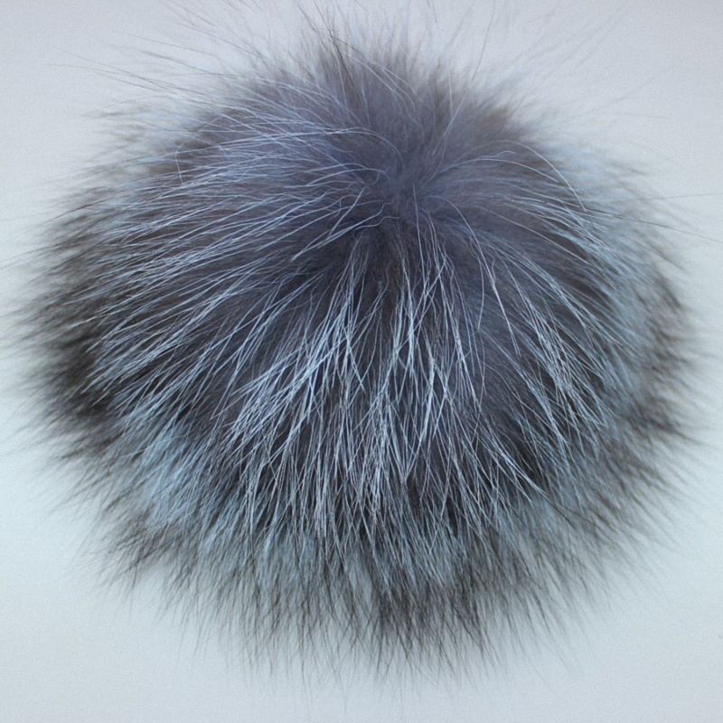 10pcs/lot Wholesale Price DIY 8-14cm Silver Fox Fur Pompom Fur Ball For Women Kids Winter   Skullies     Beanies   Hat And TKF007