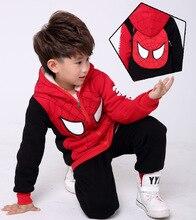 Children's Hooded Pullover SpiderMan Zipper Coat with Mask Winter Spider-Man Hoodie Cosplay Costume стоимость