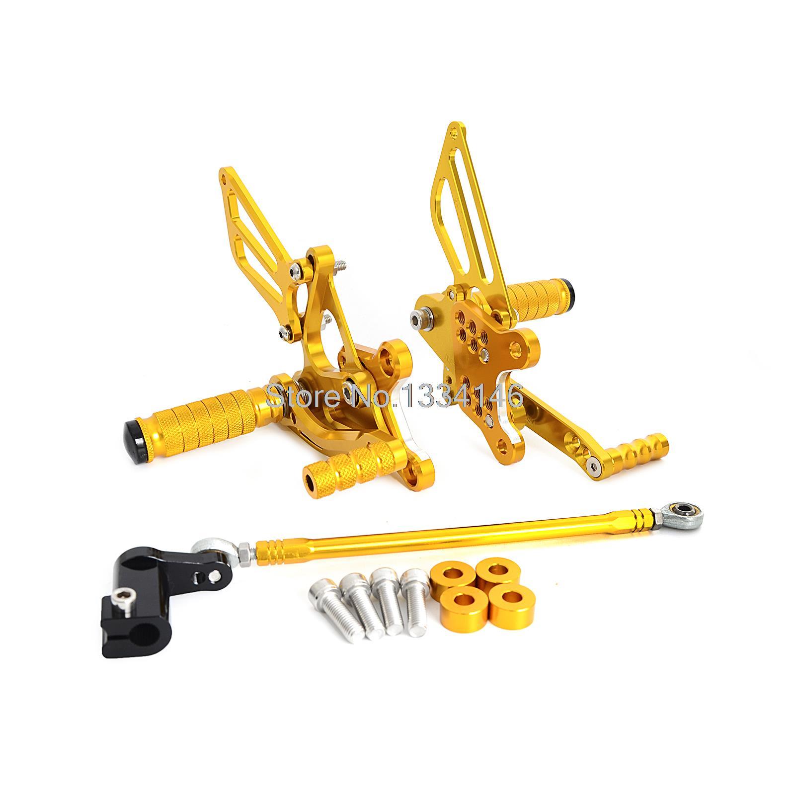 Gold CNC Adjustable Rearset Foot Peg Rear Sets For Honda CBR929 CBR929RR 2001 2002 l r pillion foot peg for honda c70 ct90 cb125 cb200 cg110 cg125 jx110 jx125 xl250 xl350