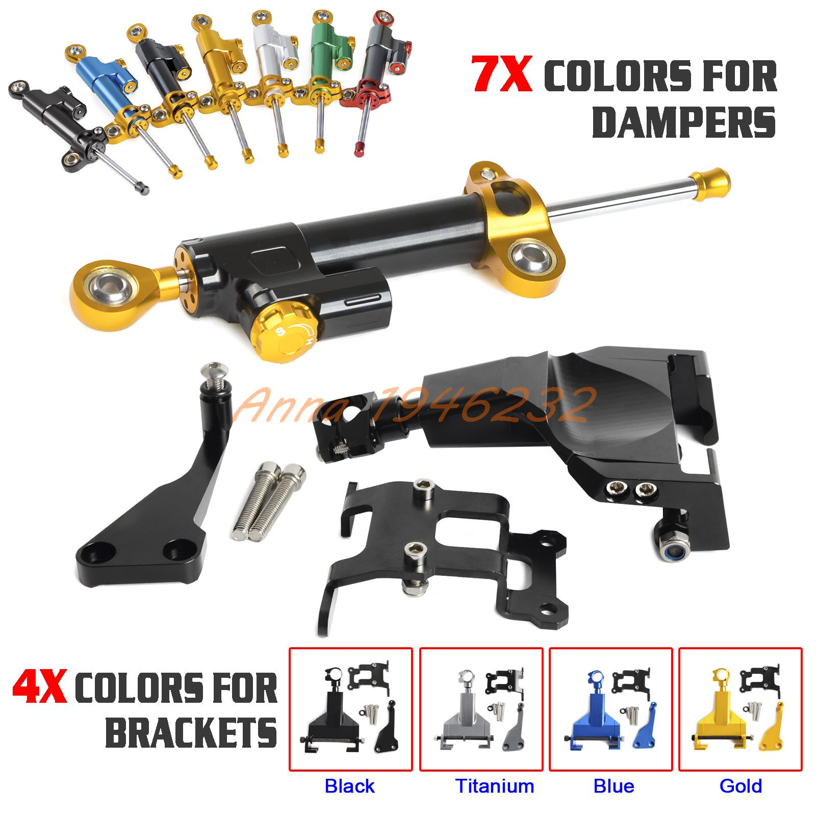 Motorcycle Steering Damper & Bracket Mounting Kit For YAMAHA MT07/MOTO CAGE 2014 2015 2016 MT 07 for yamaha mt 07 mt 07 fz07 mt07 2014 2015 2016 accessories coolant recovery tank shielding cover high quality cnc aluminum