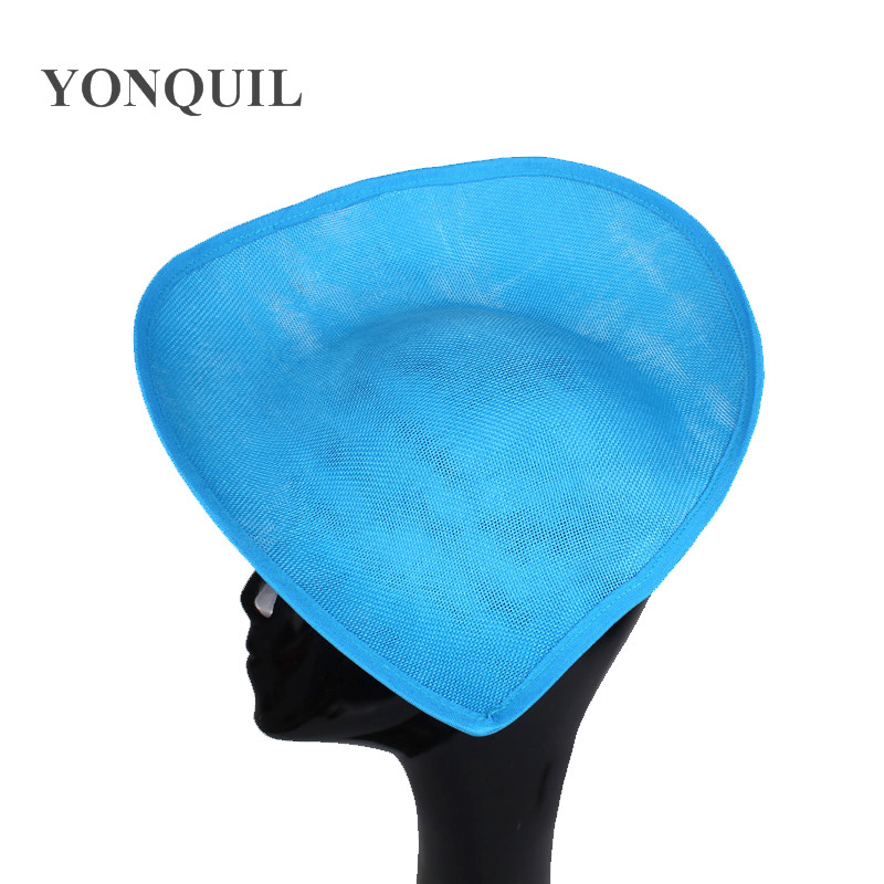 Sea Blue Or 16 Colors 30cm Imitation Sinamay Fascinator Base Hair Accessories For Bridal Wedding Party Church 5pieces/lot SYB05