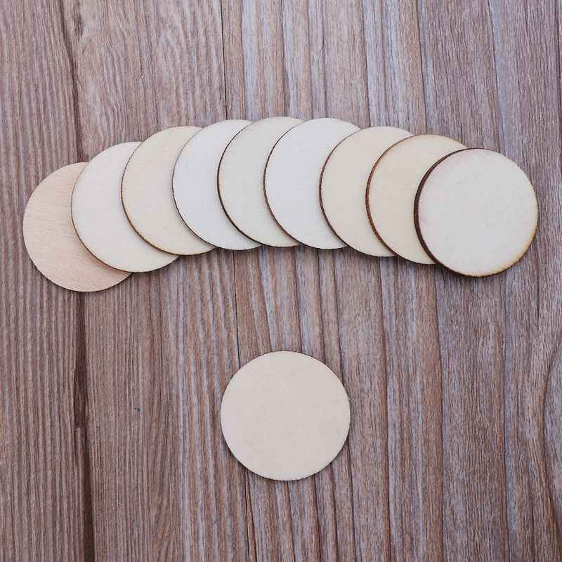 10pcs Laser Cut Wood Photo Frame Embellishment Wooden Shape Craft Wedding Decor