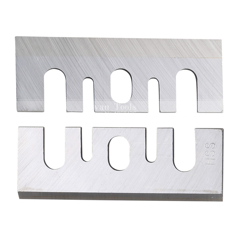 2 Pcs Planer Blades HSS Planer Sheet Electric Power Tool Part  For Hitachi F20A Portable Electric Woodworking Tools