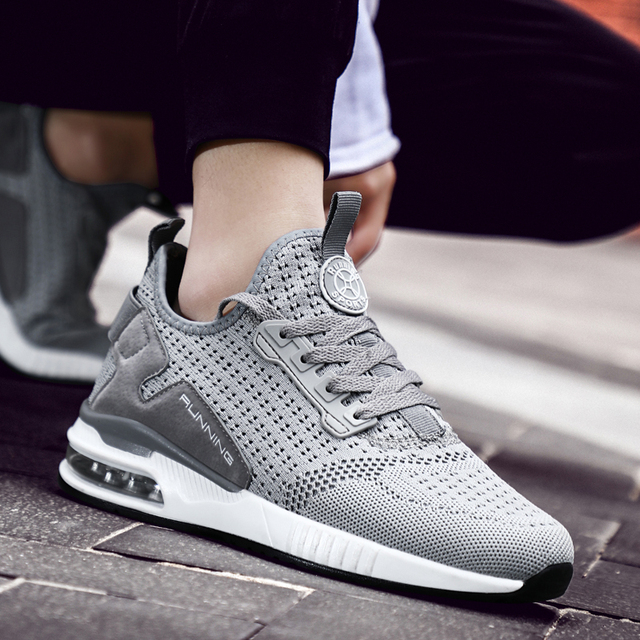 Hemmyi Couple Sneakers Shoes Mesh Breathable Chaussure Homme Spring/Autumn Men Shoes Air Cushion Size 36-45 Support Dropshipping 1