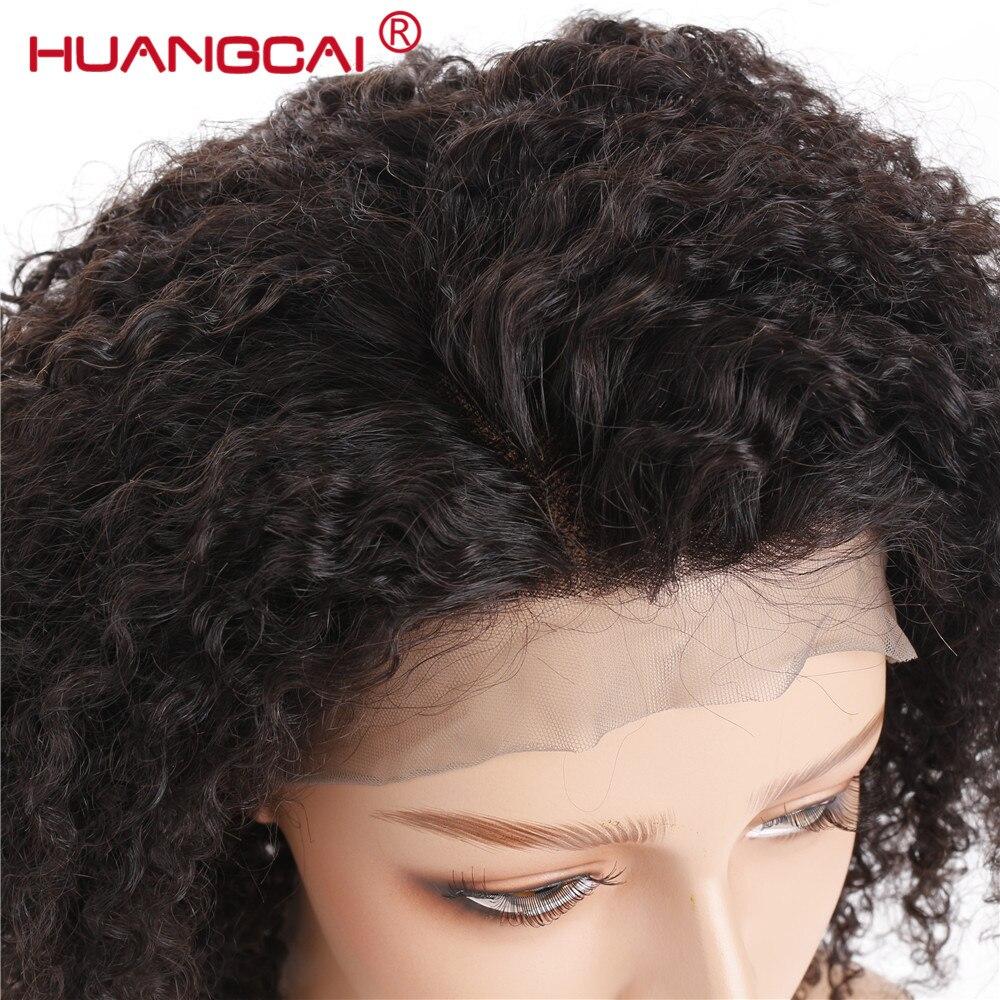 360 dentelle frontale perruques mongole Afro crépus bouclés perruque dentelle frontale cheveux humains perruques pour femmes naturel noir pré plumé Remy perruque - 2