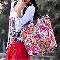 Marcas de moda Bolso de Las Mujeres Bolsa de Asas de Nylon Bolsas de Hombro Compras Lesport Plegable Embrague Bolsos de Escuela Para Niñas Bolsa Feminina