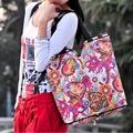 Marcas de moda Sacos Lesport Nylon Sacola de Compras Ombro Dobrar Saco do Saco Das Mulheres Bolsas de Embreagem Para As Meninas Da Escola Bolsa Feminina