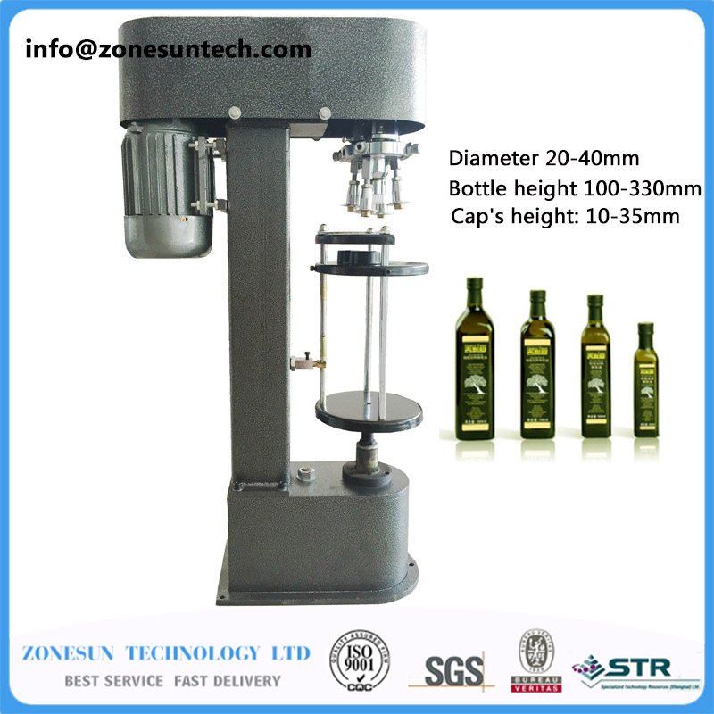 D-type metal theft proof cap locking machine, capping machine ,Easy operation capper zonesun capping head for new perfume cap crimping machine capper metal cap press machine capping machine