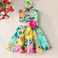 New Fashion Girl S Flower Dress Cotton Summer Dress For Party And Wedding High Quality Casual