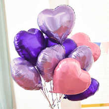 18inch 8pcs Heart love Balloons Inflatable Foil Balloon Wedding Valentine Day Decorations Helium Balloon i love you Globos цены онлайн