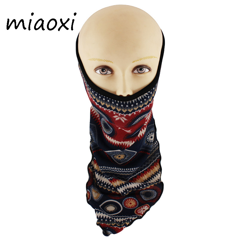 Miaoxi Hot Sale Women Riding Mask Autumn Warm Female Veil Outdoor Visor Face Mask Scarf Polyester Adult Wind Proof Masks