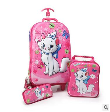 3D stereo Kids trolley Bag for school Children trolley Bag on wheels Kids Rolling Suitcase