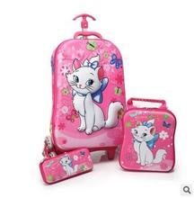 3D стерео Дети сумка тележка для школьников сумка тележка на колесиках Детский чемодан на колесиках для гриль мальчик студент прокатки Сумки