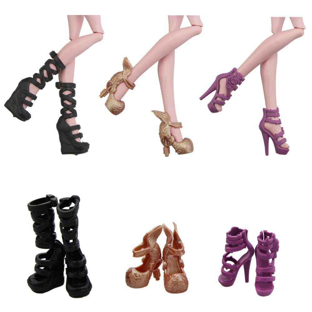 Fashion 3 Pairs Schoenen Gemengde Stijl Hoge Hakken Sandalen Party Dating Jurk Up Accessoires voor Monster High Doll voor Ooit na Pop