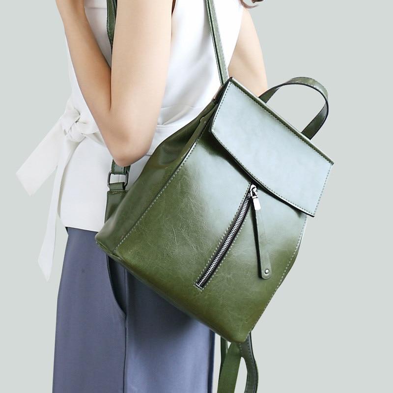 lihongbaobao fashion women backpacks high quality genuine leather female school bag for teenage girl ladies shoulder
