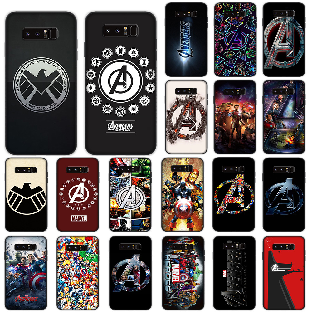 <font><b>Marvel</b></font> Avengers <font><b>Logo</b></font> Soft <font><b>Case</b></font> for <font><b>Samsung</b></font> <font><b>Galaxy</b></font> Note 8 9 10 Plus M10 M20 M30 A10s A20s <font><b>A30s</b></font> A40s A50s Cover image
