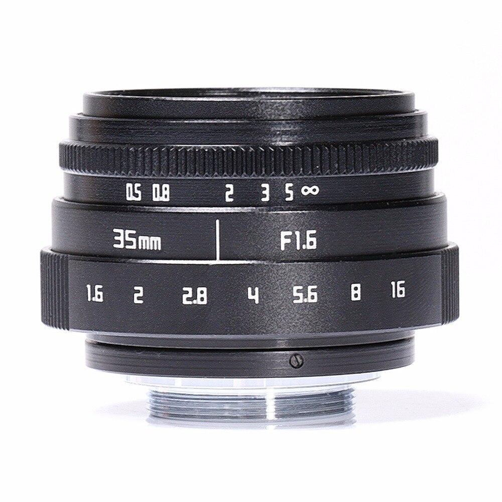 35mm F1.6 APS-C C Mount Obiettivo CCTV Per Fujifilm FX NEX Micro 4//3 EF-M