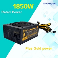 Mining Case Eth DASH Miners ZCASH 1600W Power Supply MAX 1850W For ATX Mining Machine For
