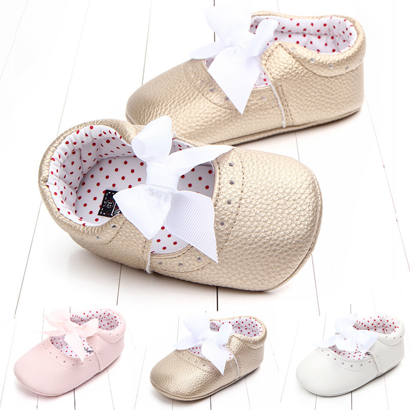 Spring And Autumn Princess Shoe Baby Shoe Baby Shoe 0 1 Soft Bottom Semi Rubber Base Baby Shoe Three Colour Foreign Trade 0907