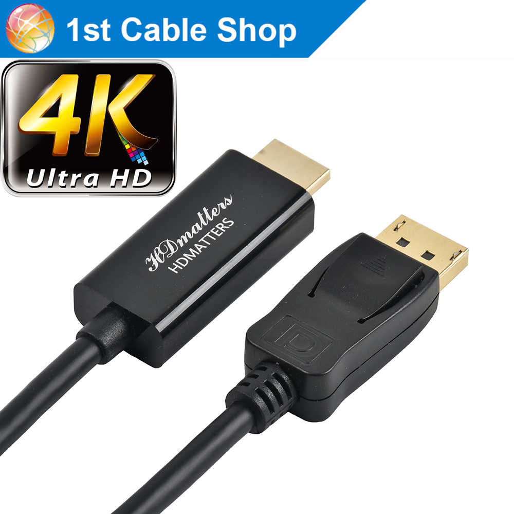 ديسبلاي بورت الى HDMI 4K كابل 1.8 متر 3 متر 5 متر 1 متر DP الى HDMI 4K 1080P DP ذكر الى HDMI ذكر ل HP Dell Asus Lenovo PC شاشة لاب توب