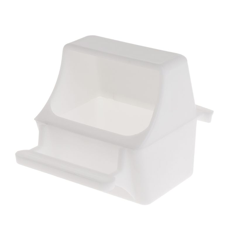 Professional Anti Splash Bird Feeder Feeding Bowl Box Cage Parrot Pigeon Budge Equipment Plastic Drink Water