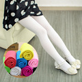 Girls High Elastic White Pantyhose Kids Summer Stockings Silk Candy Colored Velvet Stockings Dance White Tights Kids
