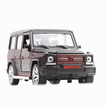 coches de juguete 1/32 Diecasts y vehículos de juguete Mercedes G65 AMG modelo de coche con sonido y luz colección juguetes para los niños regalo de Navidad coches juguete