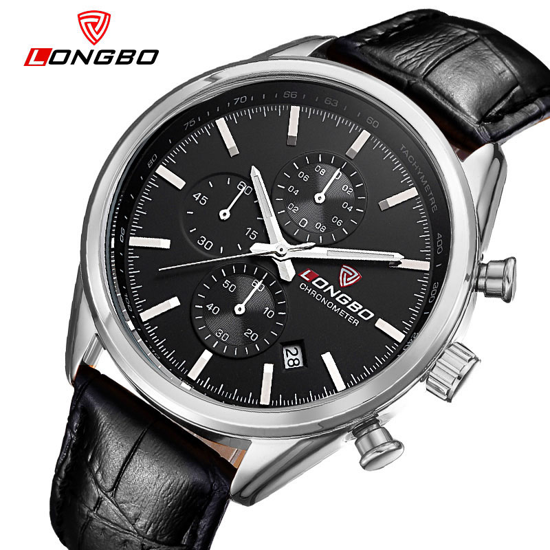 Chronograph Quartz Watch Men Watches Top Brand Luxury Famous Leather Wrist Watch Male Clock for Men Hodinky Relogio Masculino fashion male watches men top famous brand gold wrist watch leather band quartz casual big dial clock relogio masculino hodinky36