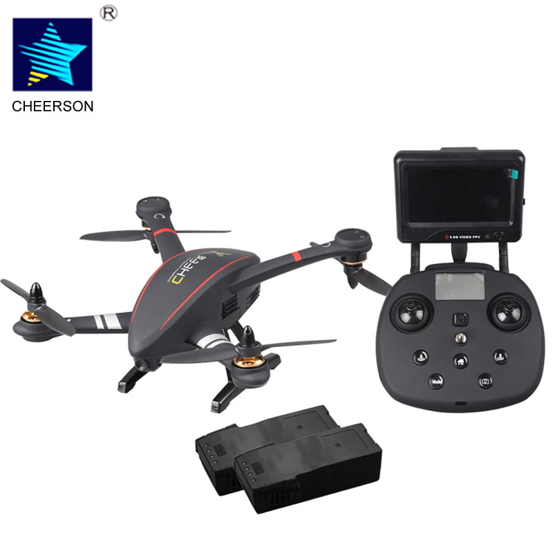 Cheerson CX-23 RC Quadcopter Brushless 5.8G FPV Drone With 720P Camera OSD GPS RC Helicopter Dron RTF add 2 Battery Packs