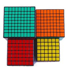 Deal Wholesale Pack of 4 High Order Black Speed Cube Puzzle Bundle Pack 6x6x6 7x7x7 8x8x8
