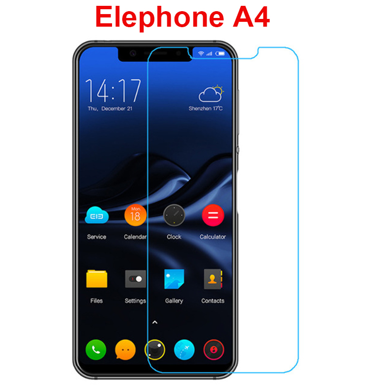 Elephone A4 tempered glass screen protector 2.5d safety protective film on Elephone A4 Guard pelicula de vidro with clean tools